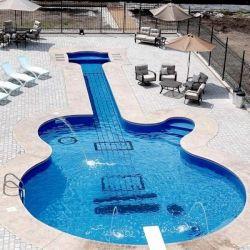 Guitar-Inspired Swimming PoolMusic, Custom Guitar, Swimming Pools, Les Paul, Rocks Stars, Lespaul, Awesome Pool, Dreams Pools, Pools Design