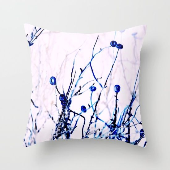 Buy Outback flowers blue Throw Pillow by DesmaGrouse. Worldwide shipping available at Society6.com. Just one of millions of high quality products available.
