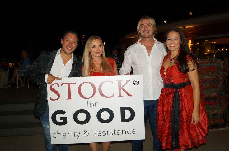 Daniel Stock, Regina Halmich, Leo Hillinger und Doris Melchner beim STOCK HIGH HILL EVENT 2015