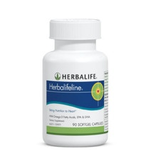 Many diets lack sufficient essential fatty acids, especially the important Omega-3s. Herbalifeline is an excellent way to supplement your daily intake of the Omega-3 fatty acids, eicosapentaenoic acid (EPA) and docosahexaenoic acid (DHA).    Details:     Improved Formula – Now with 50% more of the Omega-3 fatty acids EPA and DHA  A valuable source of Omega-3 fatty acids to promote good health.  Helps maintain healthy cholesterol and triglyceride levels that are already within normal range…