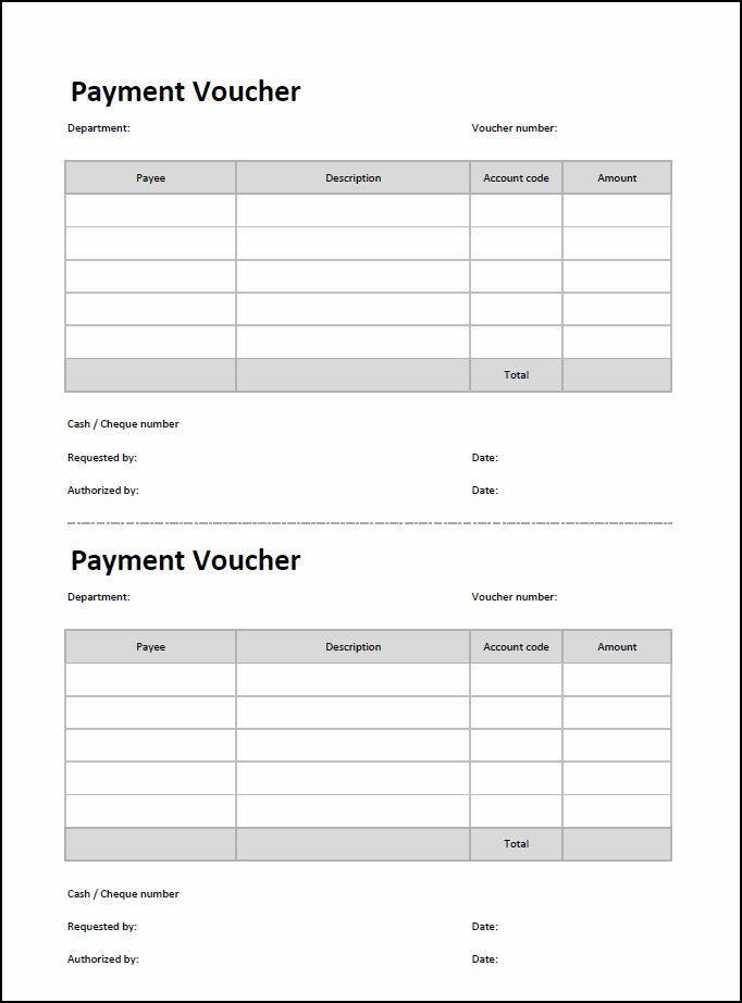 Payment Voucher Template Coupon Template Templates Accounting