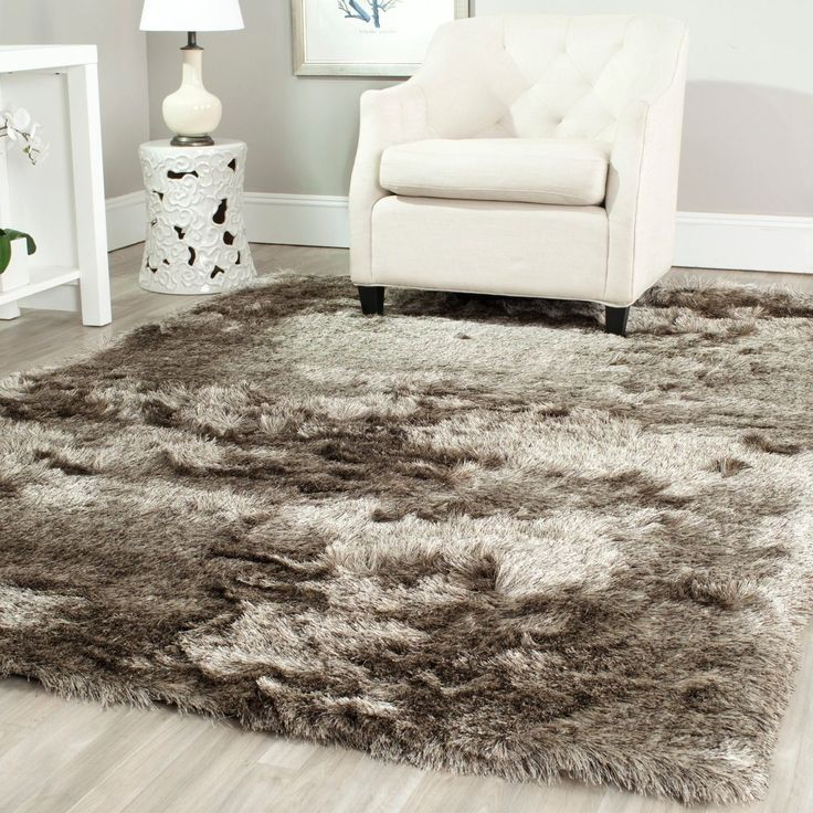 Safavieh Handmade Silken Glam Paris Shag Sable Brown Rug (8u0027 X 10u0027). Living  Room ... Part 27
