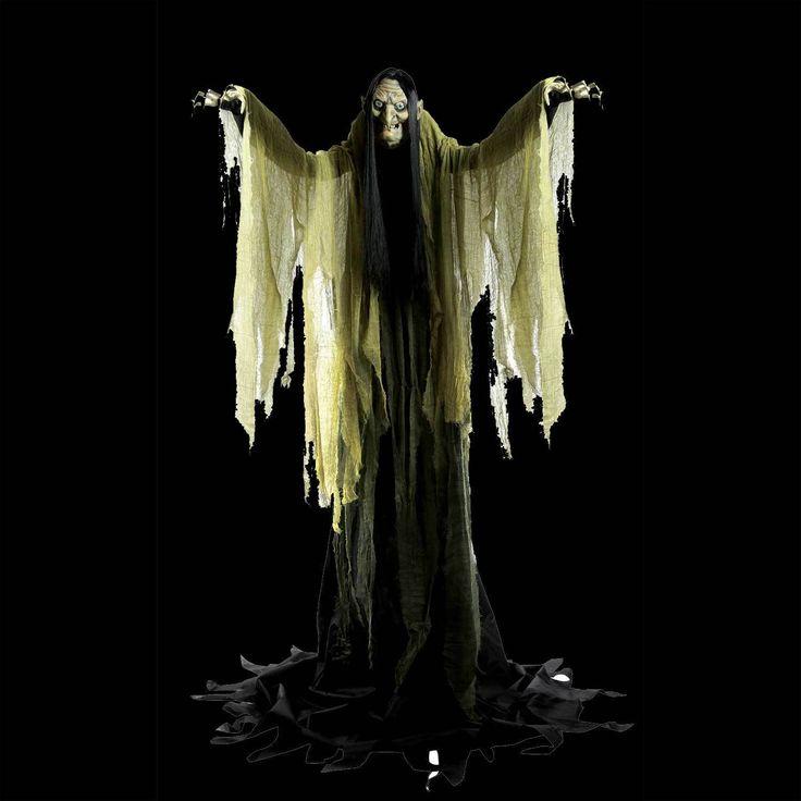 Talking LifeSize ANIMATED TOWERING WITCH Halloween Haunted