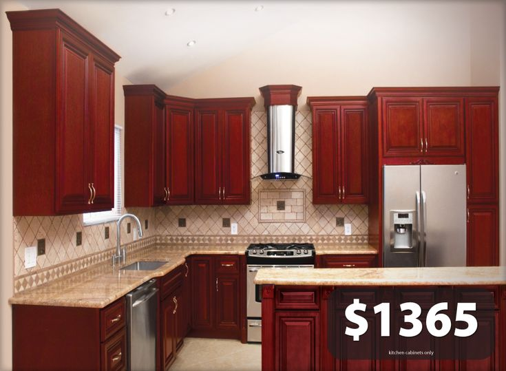 Details About All Solid Wood Kitchen Cabinets Cherryville 10x10 Rta Colors Photos And Kitchen