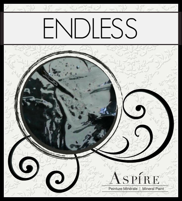 "This is Aspire Mineral Chalk Paint in ""Endless"". Add sophistication to forgotten pieces with this black as night black-a true black."