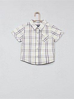 1767c93c7 Niño 0-36 meses - Camisa de cuadros de popelina - Kiabi