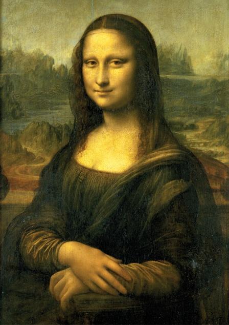1.레오나르도 다 빈치의 걸작, <모나 리자>는 세계에서 가장 유명한 초상화 중 하나이지만, 언제, 누구를 대상으로 그렸는지는 정학하지않다. 이 작품은 '리자 부인'이라는 뜻의 <모나 리자, 여기서 '모나'는 '마돈나'의 준말로, '부인'을 뜻함>라 불리게 되었다.   신원이 명확히 밝혀지지 않은 작품 속 여인의 신비로움은 그의 미소에 의해 더욱 고조된다. 여인의 미소를 묘사하기 위해 레오나르도는 스푸마토 기법을 사용했다. '스푸마토'란 이탈리아어로 '흐릿한' 또는 '자욱한'을 뜻하는 말로, 인물의 윤곽선을 일부러 흐릿하게 처리해 경계를 없애는 방법이다. 레오나르도는 특히 여인의 입 가장자리와 눈 꼬리를 스푸마토 기법으로 묘사함으로써 여인의 미소를 모호하지만 부드럽게 보이도록 만들었다.