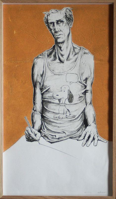 Autorretrato.                                                                                   Obra gráfica. Edición: 21/50.                                                Mancha: 58 x 33,8 cm.