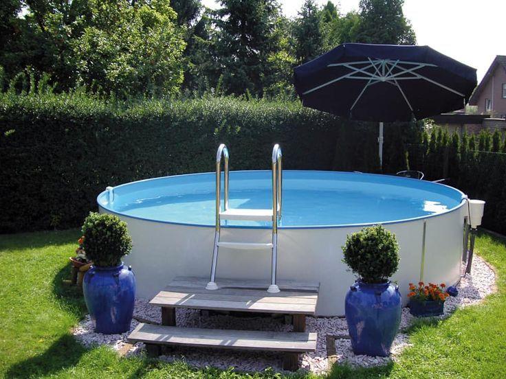 Hochwertige stahlwandpools mit langer haltbarkeit: pool von pool + wellness  city gmbh - … | Above ground pool landscaping, Pool landscaping, Backyard  pool