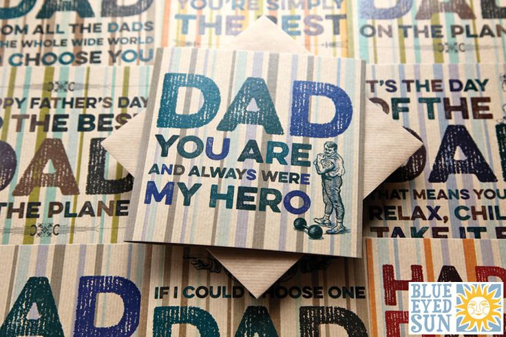 Hello Handsome Fathers Day cards by Blue Eyed Sun