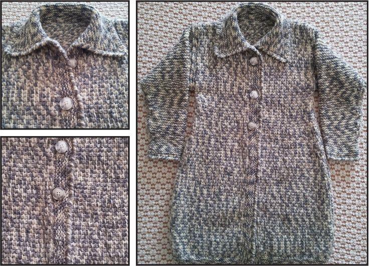 Cappotto per donna. Lavorazione all'uncinetto e ai ferri. Crochet and knit. Handmade