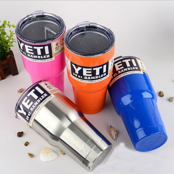 YETI Tazas Vaso de plástico 30 oz/20 oz YETI Rambler Refrigerador Aislado Al Vacío Vehículo Tazas de Café Taza de Cerveza