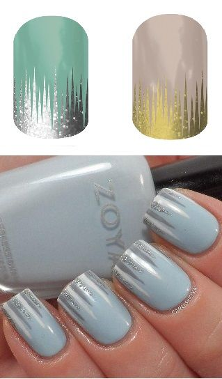 #Love #IcedJN #GildedJN #Nail #Nailart #NailDesigns: Great winter looks that will last longer than nail polish! Check out jamminw.jen.jamberrynails.net for application instructions and videos! Don't forget to shop the New & Notable section! =D