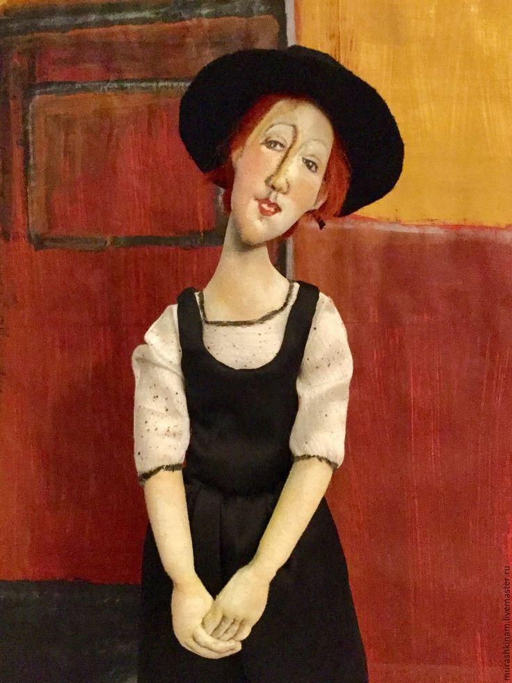 """Купить РЕЗЕРВ. Текстильная кукла """"ТОРА"""" по мотивам Модильяни - текстильная кукла, авторская кукла"""