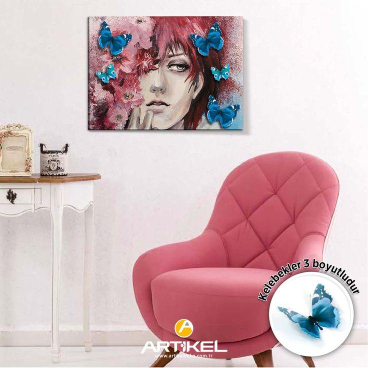 """Yeni 3d kanvas tablo modelimiz """"Girl in the Flowers"""" stoklarımızda.. #yeniürün #tasarım #kanvastablo #3dkanvas #flowers"""