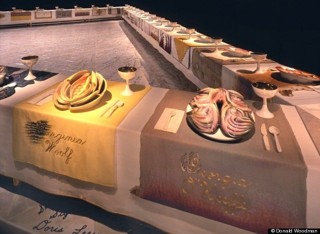The Dinner Party by Judy Chicago at the Elizabeth A. Sackler Center for Feminist Art at the Brooklyn Museum.