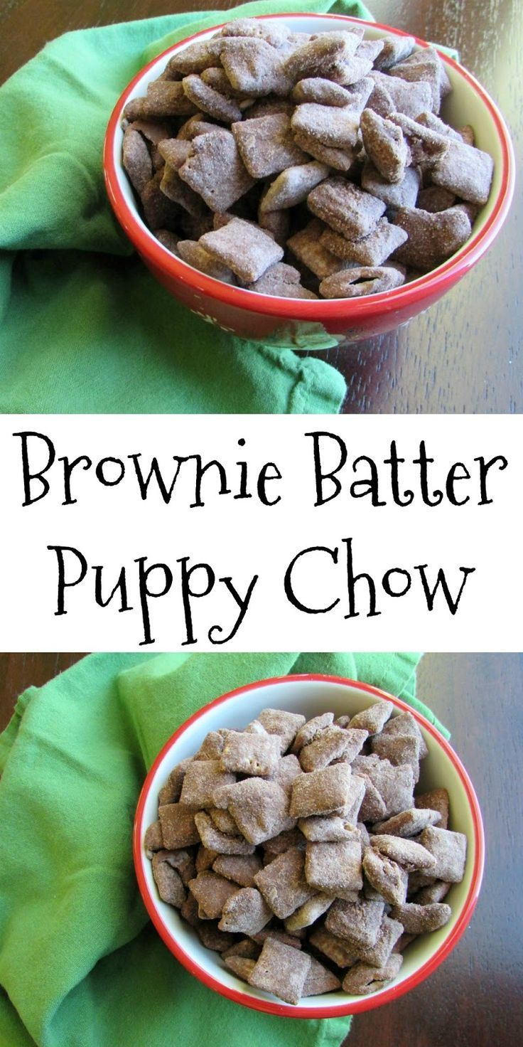 Brownie Batter Puppy Chow is  a more chocolaty version of your child hood favorite.  Chocolate, peanut butter, crunchy goodness gets extra chocolaty!  You are going to love this snack mix!