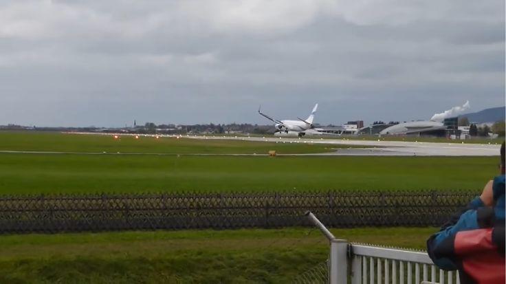 Un Boeing 737-800, la un pas de tragedie la Salzburg (Video)