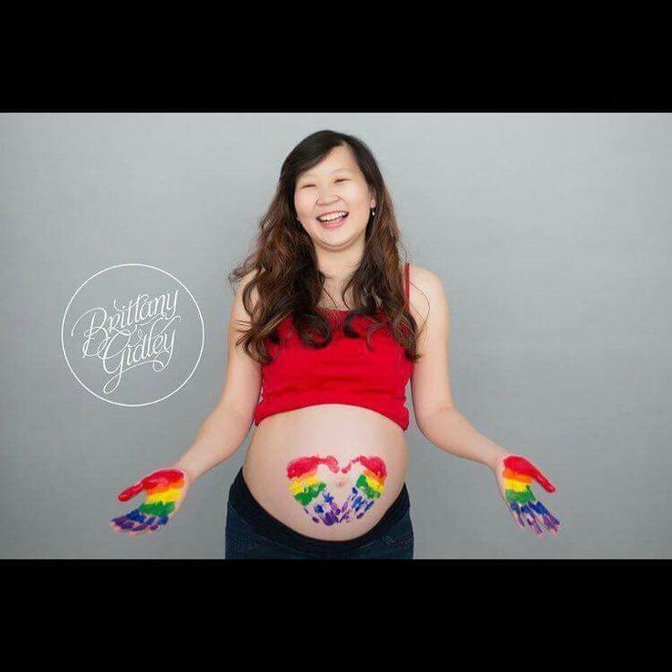 Pin for later 16 creative rainbow baby pregnancy announcement ideas some finger paint fun