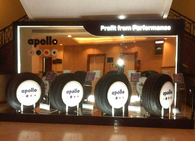 Exhibition Stand Design for Apollo Tyres. INSTA is a single source provider for all the Exhibition, Events, Conferences and Brand Activation requirements. Contact us at http://www.insta-group.com/