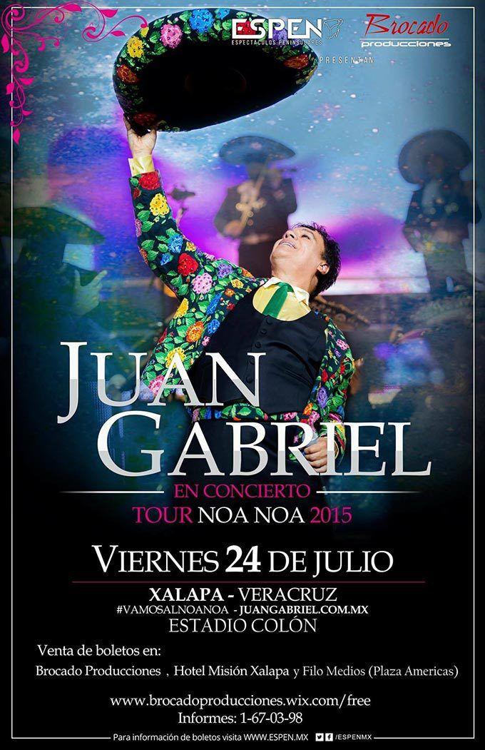 Concierto de Juan Gabriel en Xalapa. 24 de julio de 2015 en el Estadio Colón de…