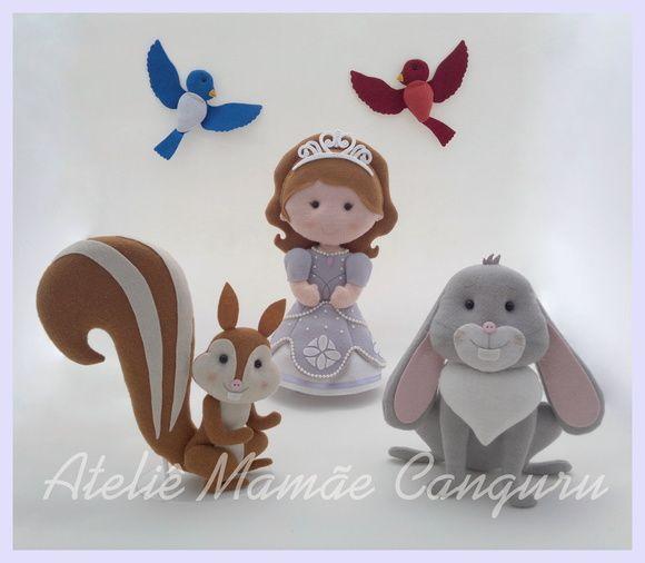 Kit Princesa Sofia e sua turma feltro