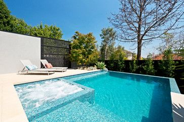 Kew Infinity Pool and Spa - contemporary - Pool - Melbourne - Neptune Swimming Pools