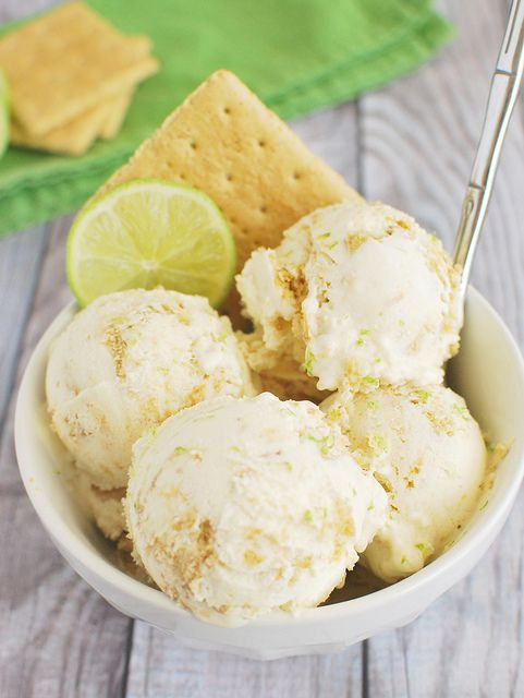 Key Lime Pie Ice Cream Recipe! This has all the things you love about a slice of cool, creamy key lime pie!