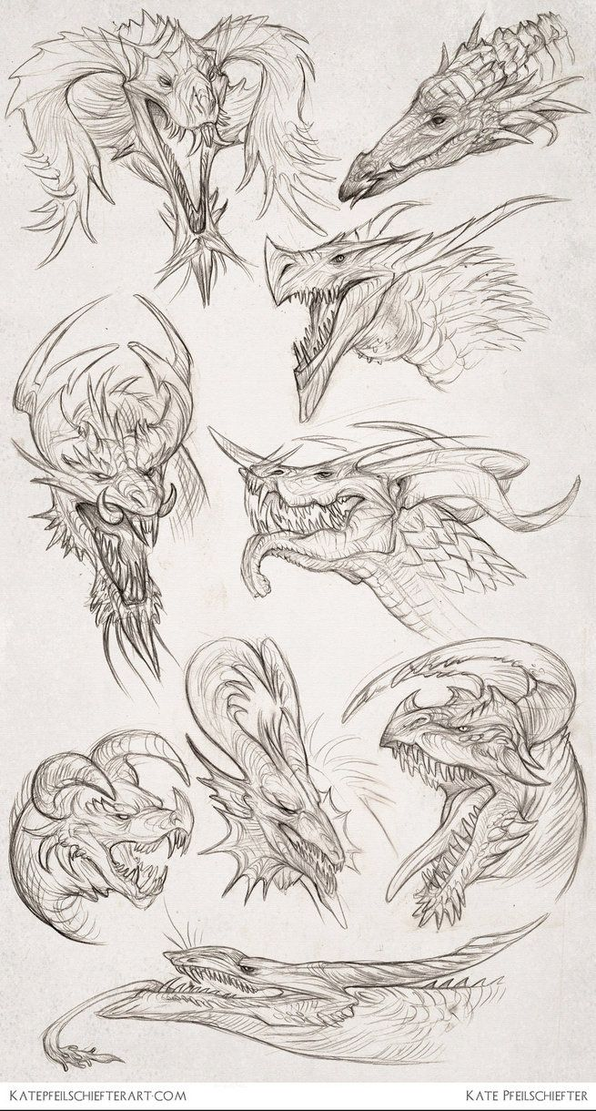Daily Dragons by KatePfeilschiefter on deviantART Inspiring Artist Sketchbooks Resources for Art Students CAPI