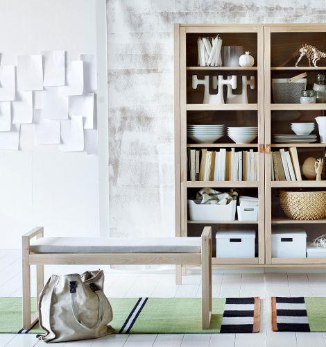 ikea bj rksn s vitrinsk p och b nk huset pinterest ikea organizations and living rooms. Black Bedroom Furniture Sets. Home Design Ideas