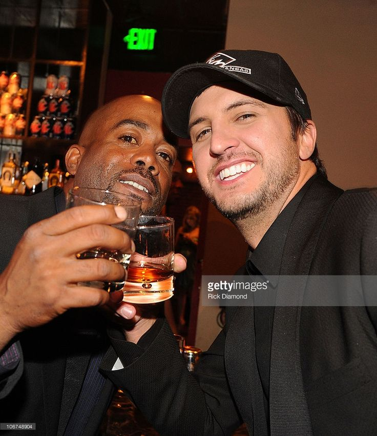 Capitol Recording Artists Darius Rucker and Luke Bryan attend the Capitol Records Party following the 44th Annual CMA Awards at Sambuca on November 10, 2010 in Nashville, Tennessee