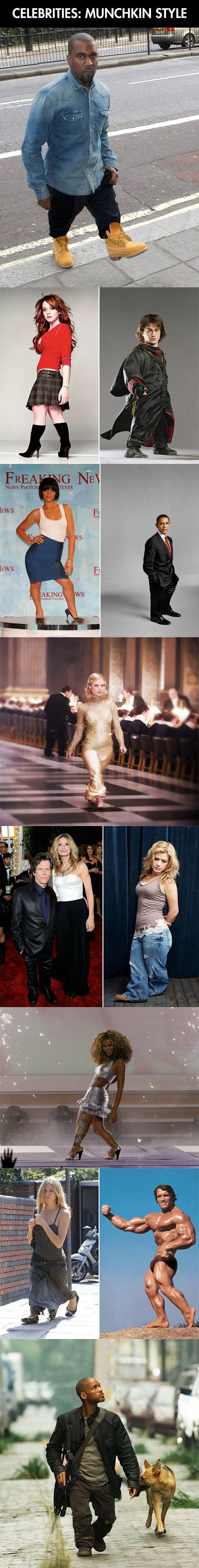 If celebrities were shorter  - funny pictures #funnypictures