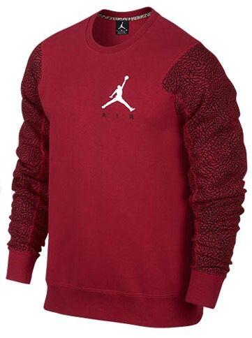 #airjordan sweatshirt braded arms #burgundy