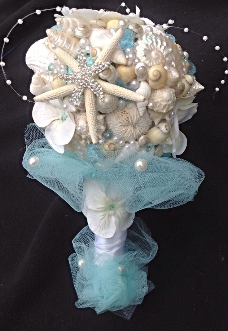 Tiffany Blue Bouquet Beach Wedding By BeachBasketBride 9500