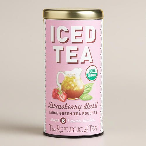 One of my favorite discoveries at WorldMarket.com: The Republic of Tea Strawberry Basil Iced Tea Pouch, 8-Count