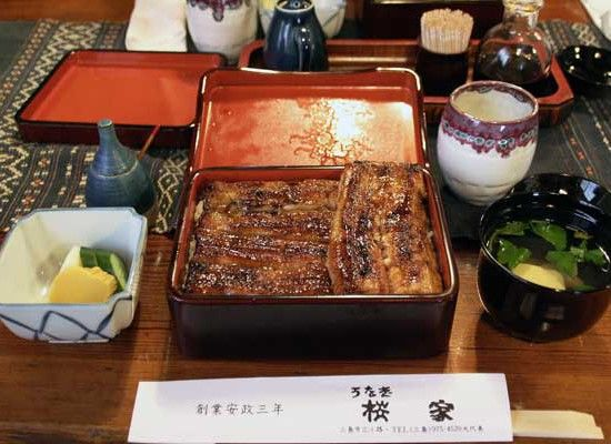 Spitchcock is one of the most popular Japanese foods. It's grilled and put mop sauce.