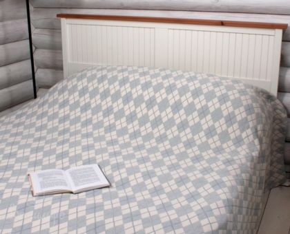Купить покрывало DALLAS бежево-голубое 200х220 от производителя Luxberry (Португалия)