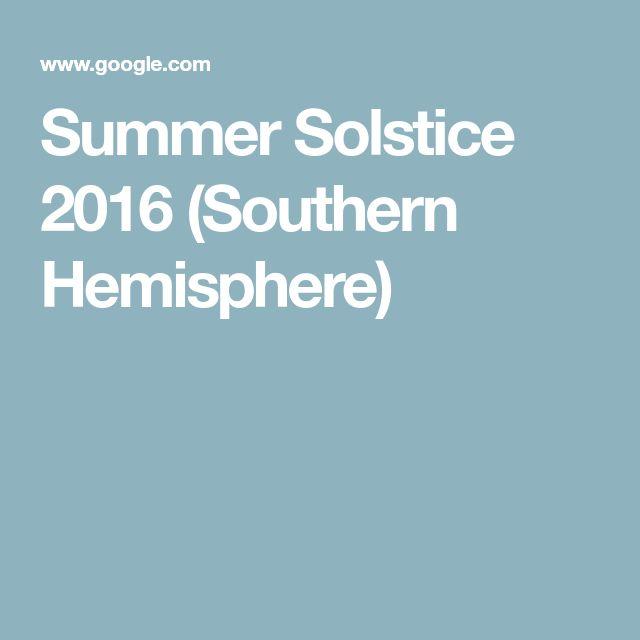 Summer Solstice 2016 (Southern Hemisphere)