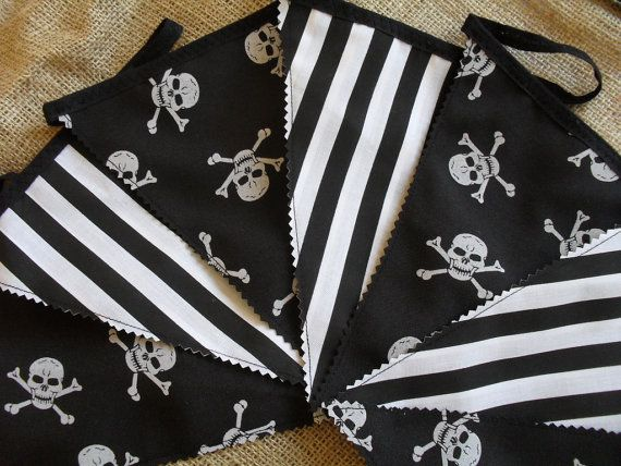 Hey, I found this really awesome Etsy listing at http://www.etsy.com/listing/120870810/black-white-pirate-partybedroom-bunting