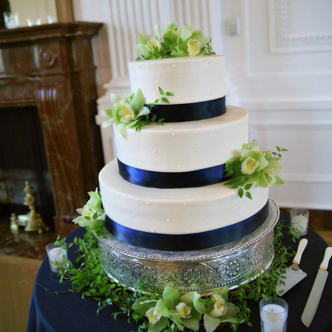 navy blue and green wedding cake blue and green wedding cake wedding 17750