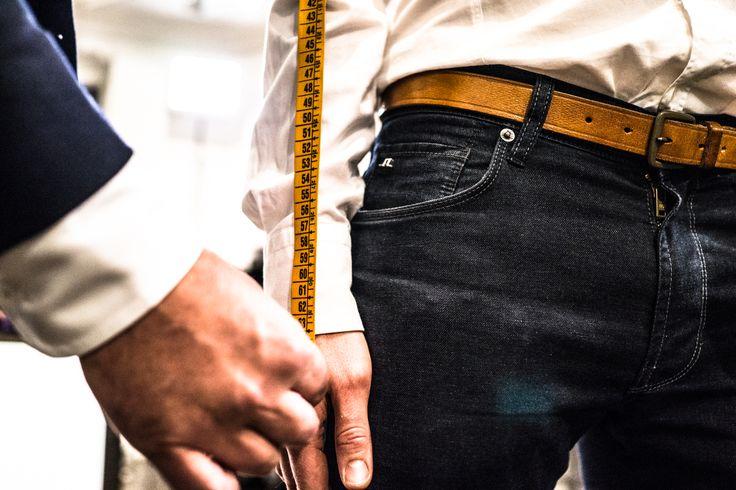 Measuring the length of the sleeve for made-to-measure Sauma shirt. Photo (c) Risto Kantola