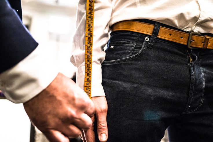 Measuring the length of the sleeve for made-to-measure Sauma shirt. Photo (c) Risto Kantola