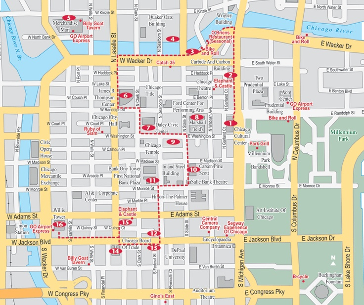 Self-Guided Chicago Loop Architecture Walking Tour and Sightseeing Map | MetroWalkz