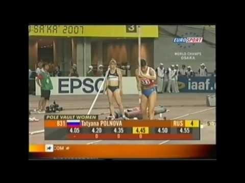 Tecnicas de Atletismo- Exemplos no salto com vara