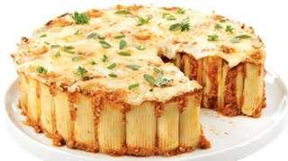 Gâteau de rigatonis au boeuf