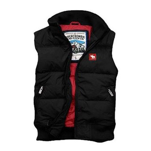 Men Abercrombie & Fitch Down Vest-Black - Shipping Cap Promotion- - TopBuy.com.au