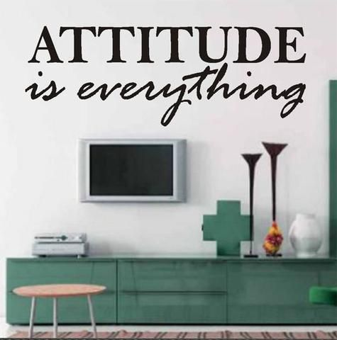 """Self-adhesive Vinyl Wall Lettering Overall size is 28""""w x 10""""h ATTITUDE is everything CHOOSE YOUR COLOR FROM DROP DOWN MENU *For Color reference please see second picture for our chart. As each monito"""