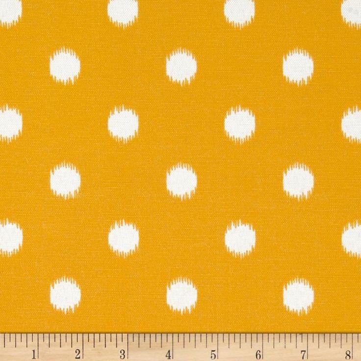 Premier Prints Indoor/Outdoor Ikat Dots Citrus Yellow