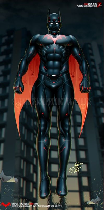 #BatmanBeyond #dkboss7 #photoshop #batman #dccomics #digitalart #superhero #suit #redesign
