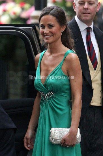 Pippa Middleton Emerald Green Bridesmaid Dress Royal Wedding